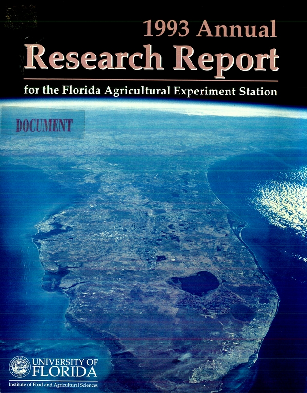 Florida Agricultural Experiment Station Annual Report - Front cover