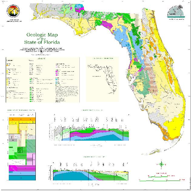 Geologic map of the state of Florida ( revised )