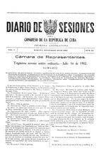 diario de sesiones del congreso de la rà publica de cuba