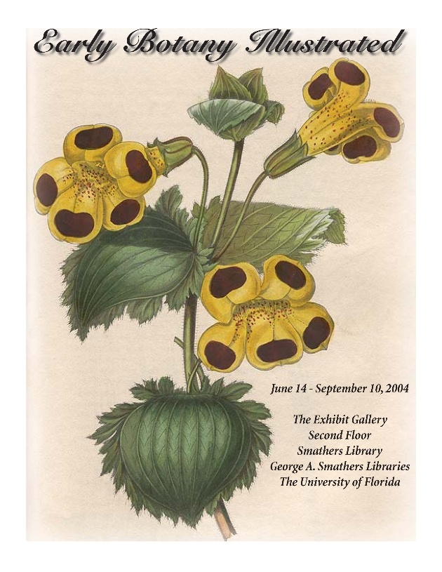Early Botany Illustrated, Exhibit Catalog - Front Cover