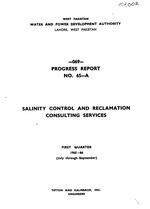 Salinity control and reclamation consulting services