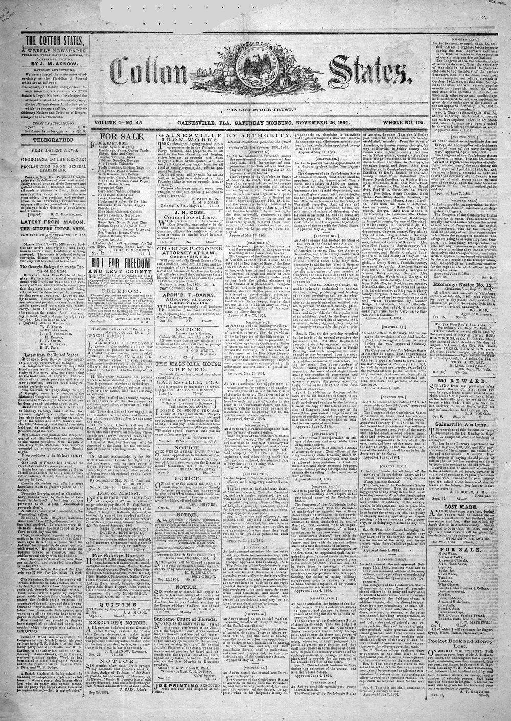 Cotton states (Micanopy, Fla.) - Page 1