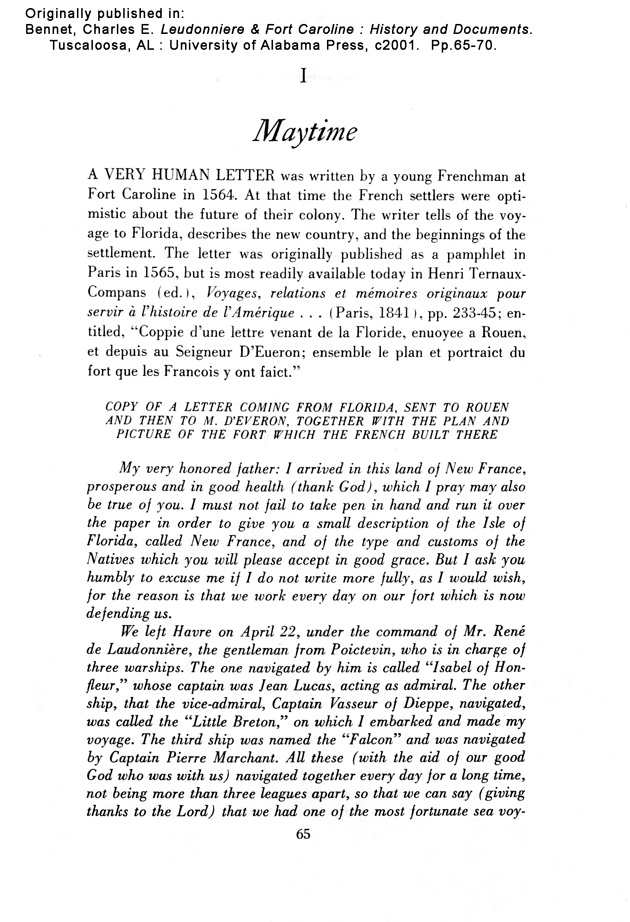 Laudonnière & Fort Caroline - Page 65