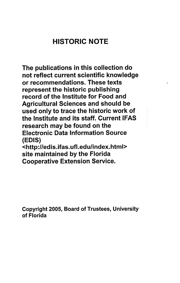 Water requirements of Florida turfgrasses - Historic note