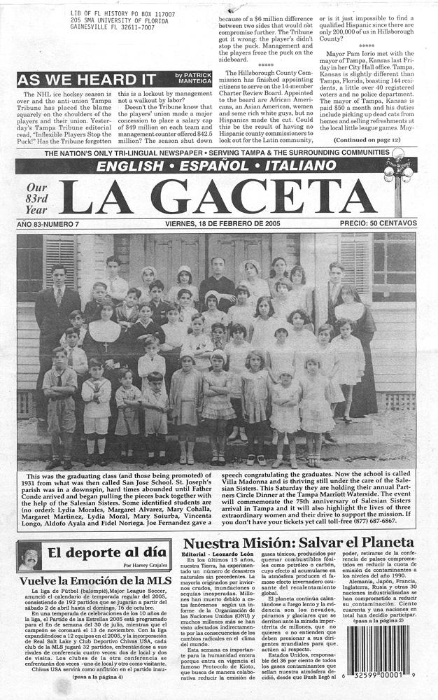 Gaceta - Page 1