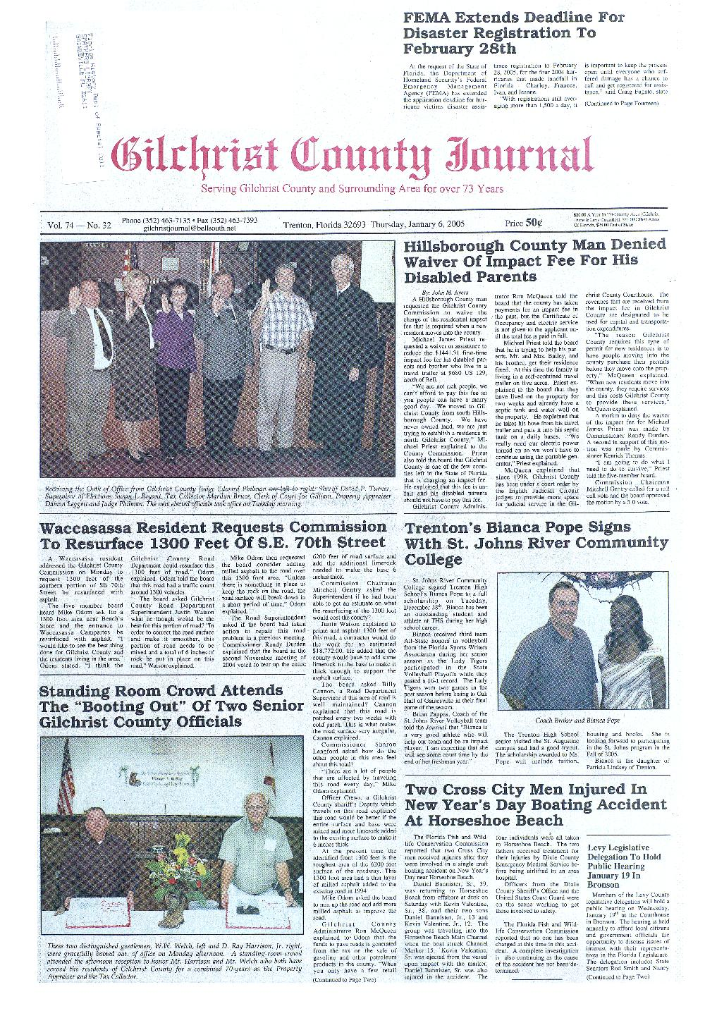Gilchrist County journal - Page 1