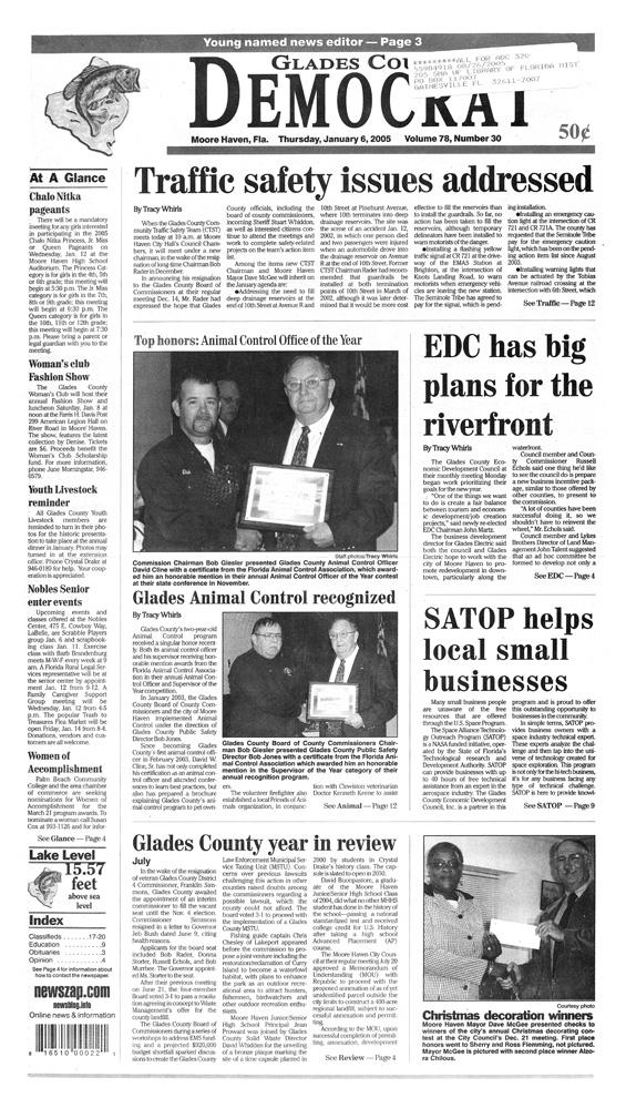 Glades County Democrat - page 1