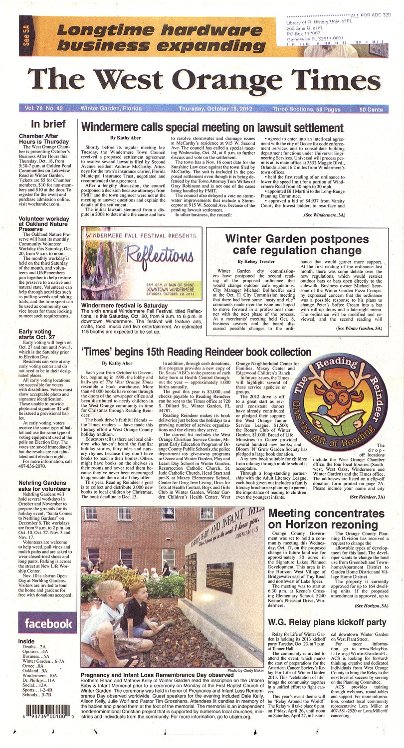 528678899934 The West Orange times ( October 18