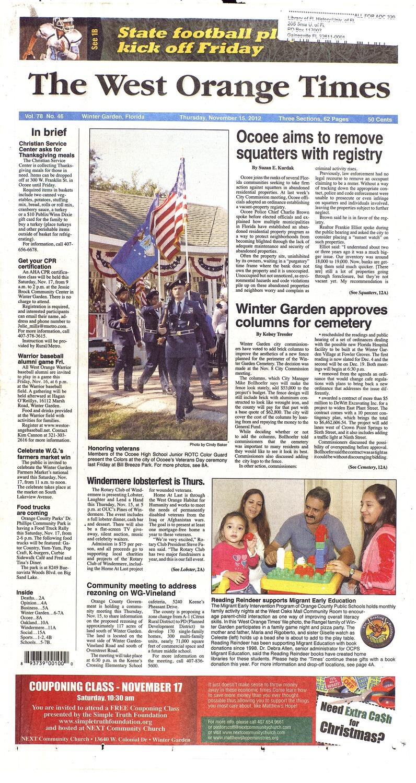 The West Orange Times November 15 2012
