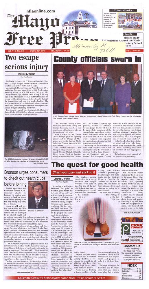 The Mayo free press - Page 1