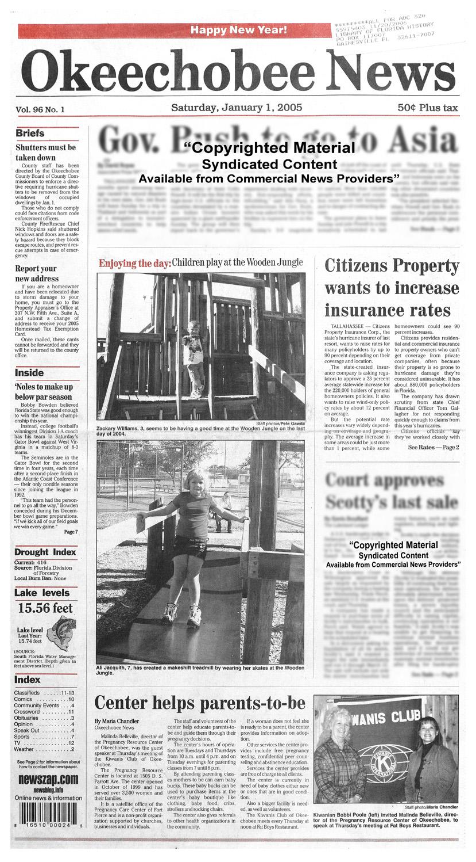 Okeechobee news - page 1