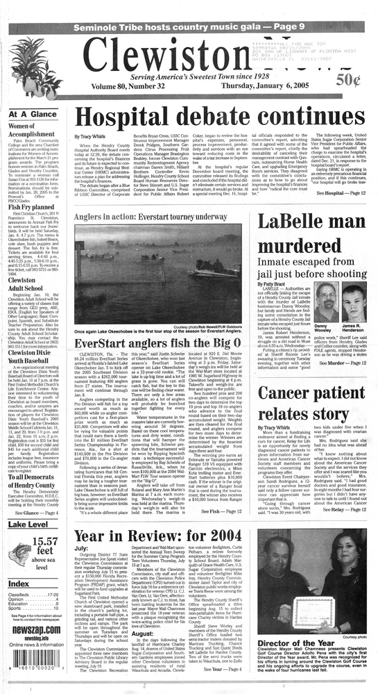 The Clewiston news - Page 1