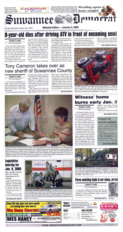 Suwannee Democrat - Page 1
