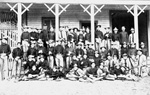 East Florida Seminary students in front of the barracks