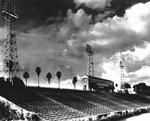 University of Florida Florida Field Stadium with press box.