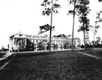 Early view of Thomas Residence Hall on the University of Florida campus