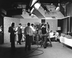 Program and camera crews in the studio at WUFT-TV, University of Florida
