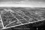 Aerial drawing of the University of Florida campus.