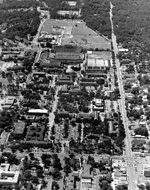 Aerial view of University of Florida campus