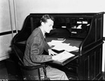 University of Florida Student Body President Ed Rood seated at his desk