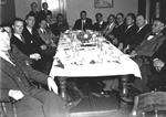 Former University of Florida Student Body Presidents at a banquet.