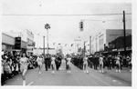 Gainesville High School band in 1958 University of Florida Homecoming parade