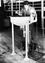 Man using research equipment.