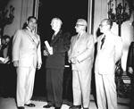 University of Florida President J. Hillis Miller with Fulgencio Batista y Zaldivar,  the leader of Cuba and others.