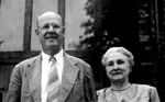 University of Florida President John Tigert and his wife Edith outside of their house.