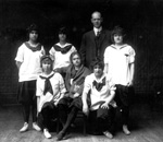 John J. Tigert with some women students early in his teaching career.