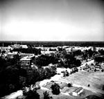 University of Florida campus aerial showing J. Hillis Miller Health Center to the left