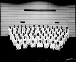 Men in the University of Florida Glee Club pose for a group portrait in Florida Gym.