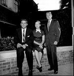 University of Florida Junior Class officers: President Jim Quincey, Secretary-Treasurer Betty Lou Babbitt, and Vice-President Charles Godfrey