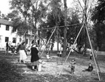 Playground with mothers and children in Flavet III on the University of Florida campus