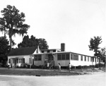 Exterior view of University of Florida Building J used for recreation.