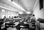 Classroom scene with students and teacher in Peabody Hall.
