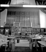 South wall in Humanities Reading Room on the second floor of the University of Florida's Library East.