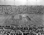 """University of Florida Band forms letters """"UF"""" on Florida Field"""