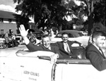Florida Governor Leroy Collins and University of Florida President J. Wayne Reitz in Homecoming Parade