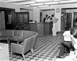 Lobby and main counter inside the University of Florida Infirmary.