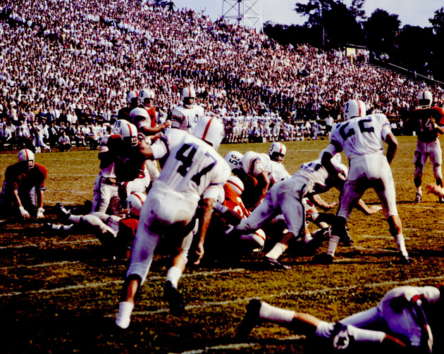 Football game in progress on Florida Field at the University of Florida