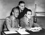 Red Barber, Mel Allen, Bill Corum broadcast at the World Series, Oct. 2, 1942.