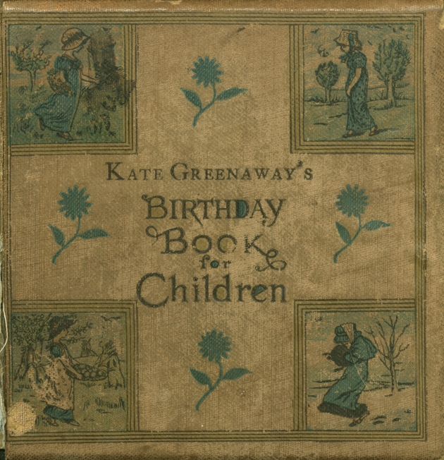 Kate Greenaway's birthday book for children  - Cover 1