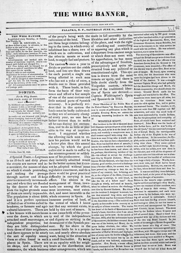 The Whig banner - Page 1
