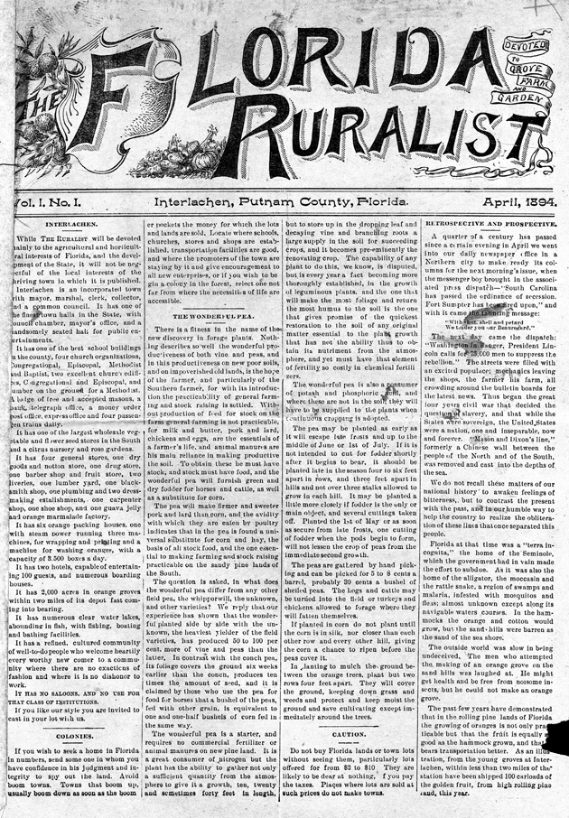 The Florida ruralist - Page 1
