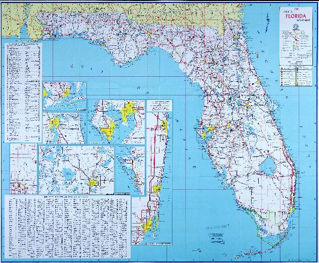 Official Florida Road Map - Us highway map 1960