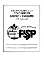 Bibliography of readings in farming systems