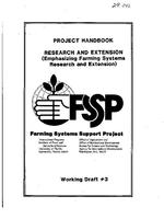 Project handbook research and extension : emphasizing farming systems research and extension