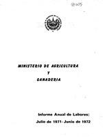 Informe de las labores realizadas por el poder ejecutivo en el ramo de agricultura y ganaderia.