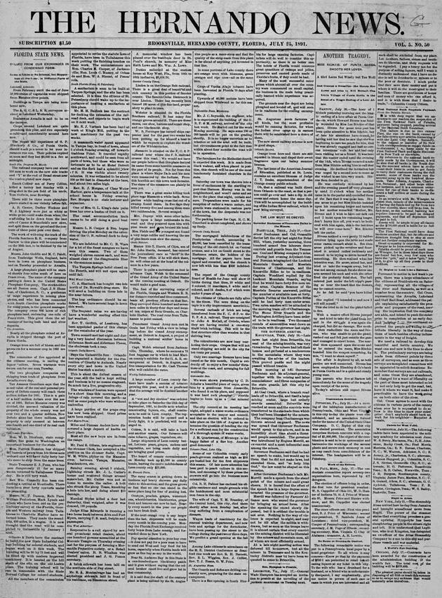 The Hernando news - Page 1